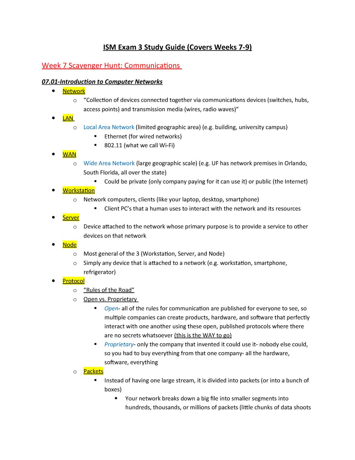 Exam 2018 - ISM 3004: Compu In Bus Environ - StuDocu Usi Comcast Wiring Diagrams on