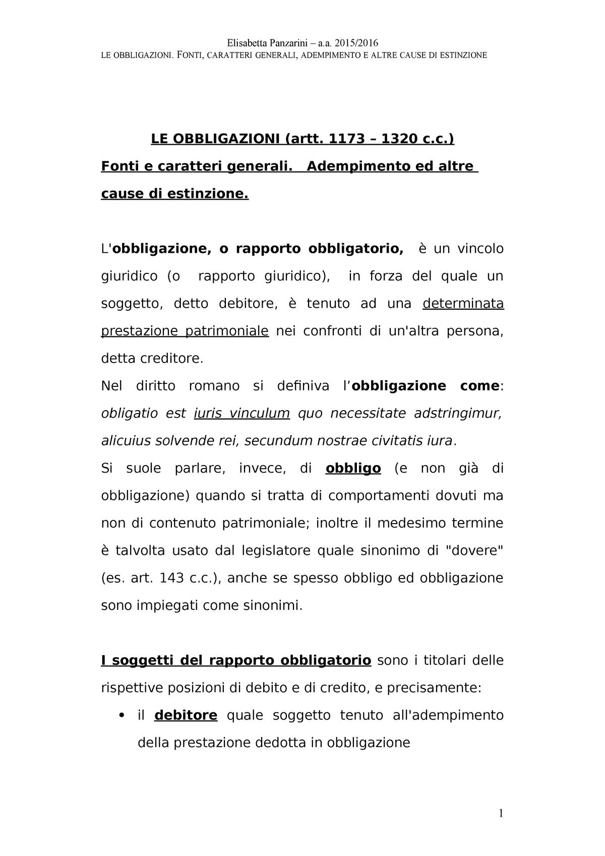 c96327f95e OK Obbligazioni - IUS21: Diritto CIVILE - StuDocu