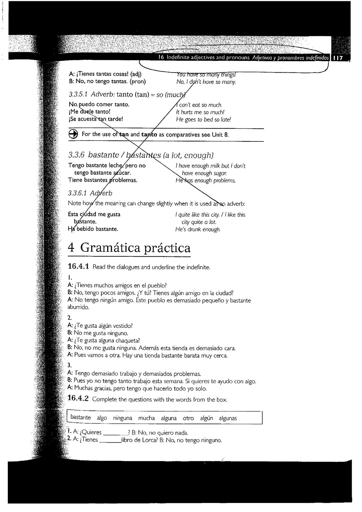 Ejercicios de repaso - SPAN10001: Spanish 1 - StuDocu