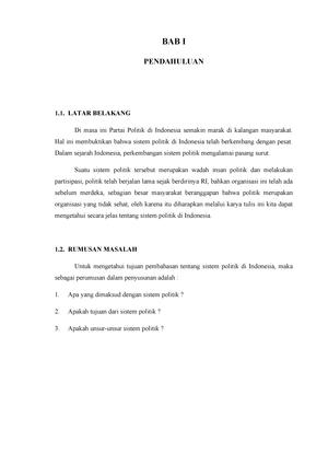 Makalah Pancasila Sistem Politik Indones Studocu