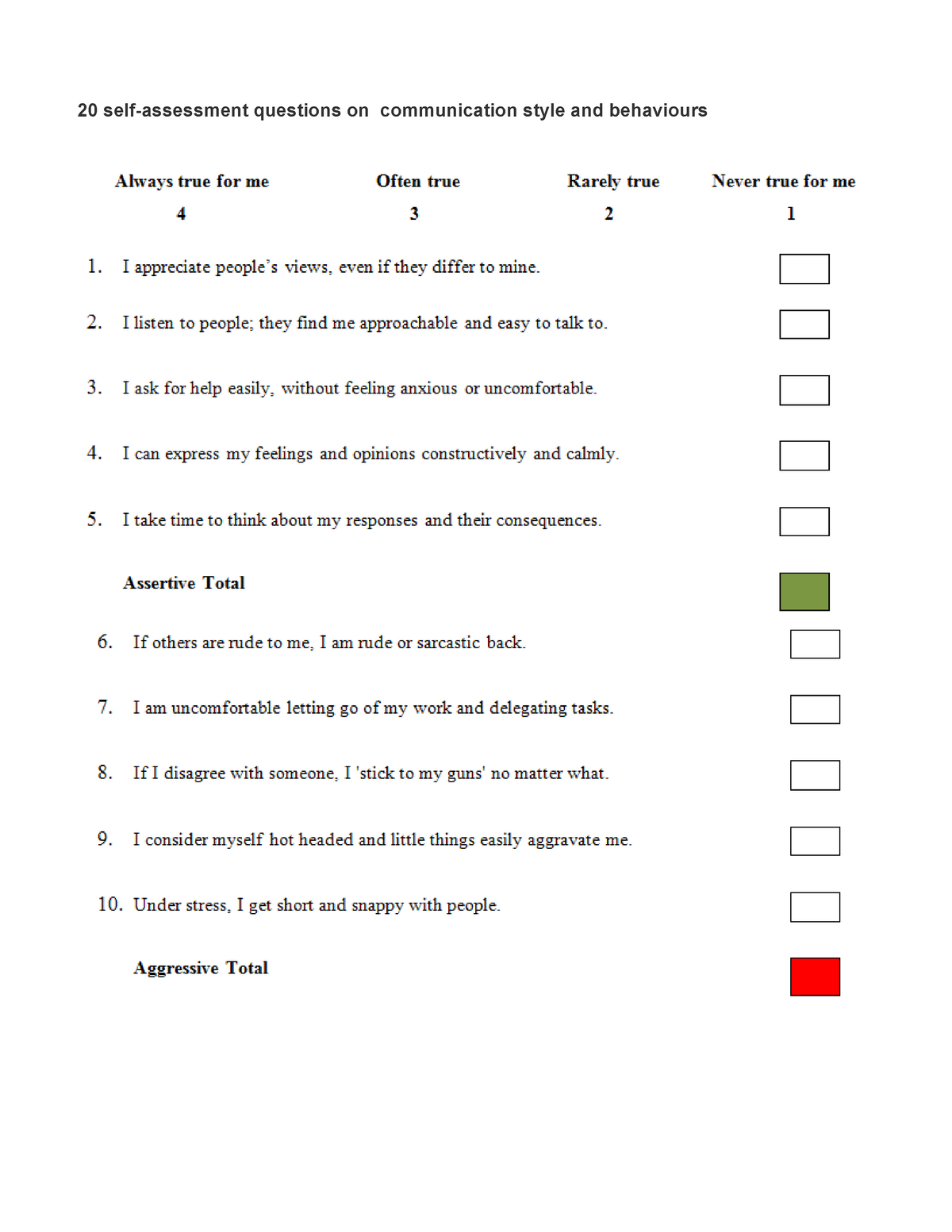 EEE1 communication and behaviour questionnaire TRIM B WK 7
