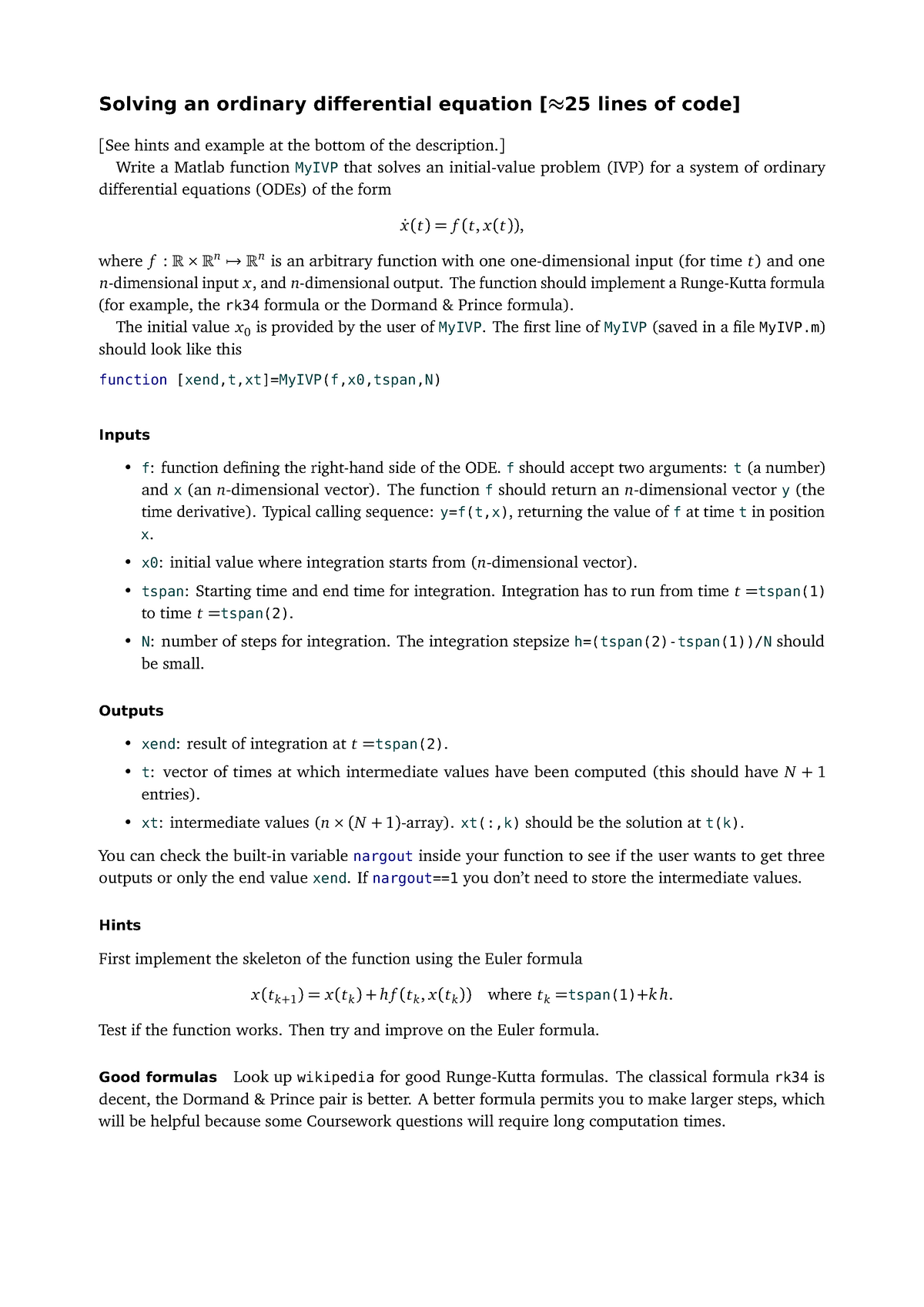 My IVP-Sheet 3 - CODING - ECM3739: Computational Nonlinear