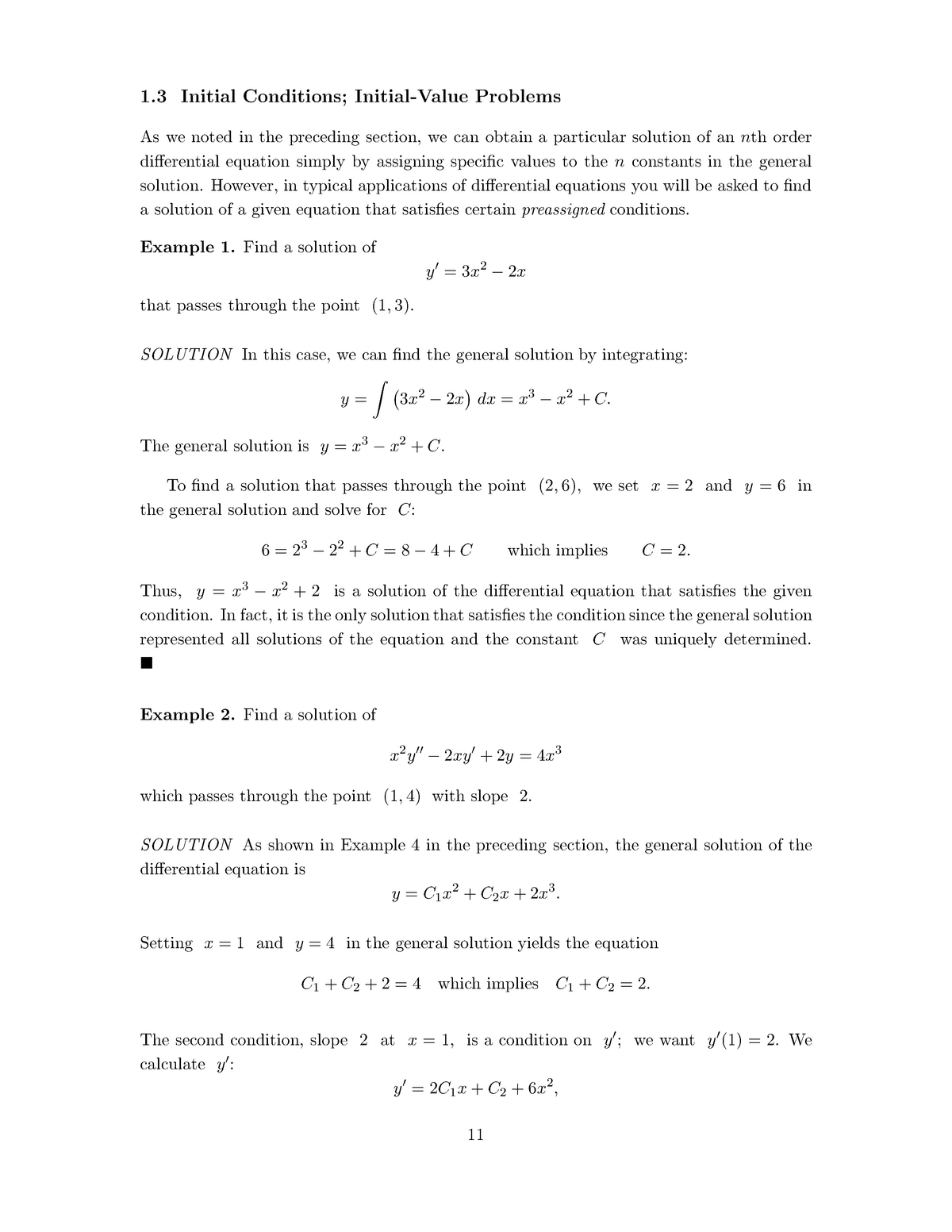 Initial Value Problems - MATH25600001: Engineer Math IV