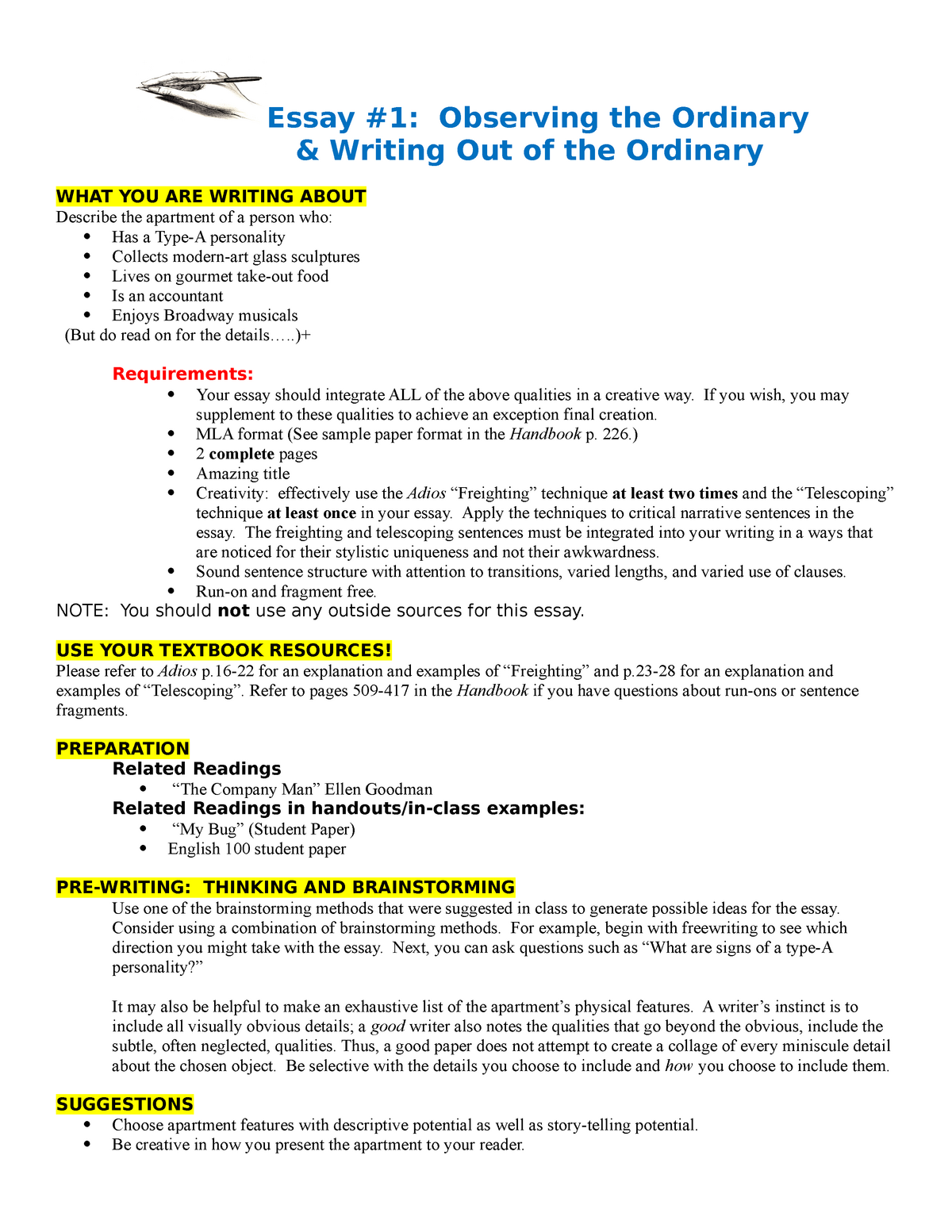 English Essay Outline Format  Essay On Business Management also Descriptive Essay English  Essay  Describe Apartment  Engl A  Occ  How To Write A Proposal Essay Outline
