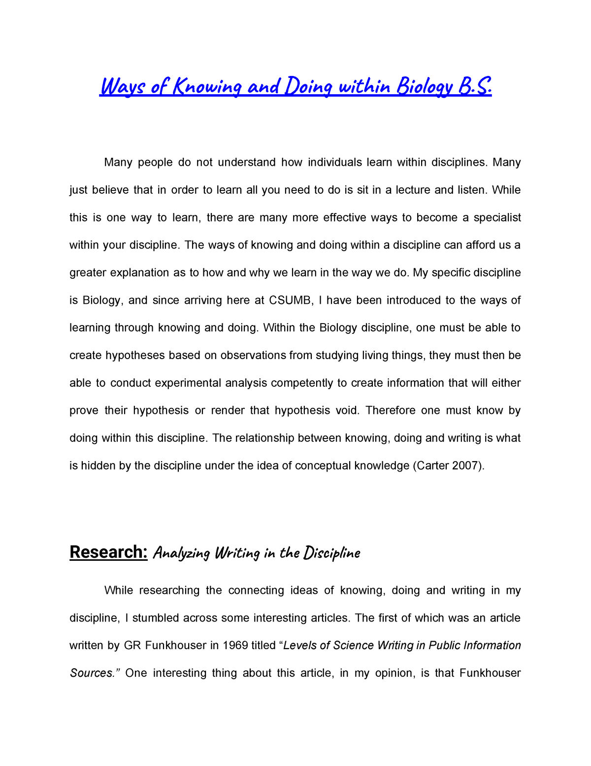 Ways Of Knowing And Doing Cad 101b Reading And Writing 2 Studocu