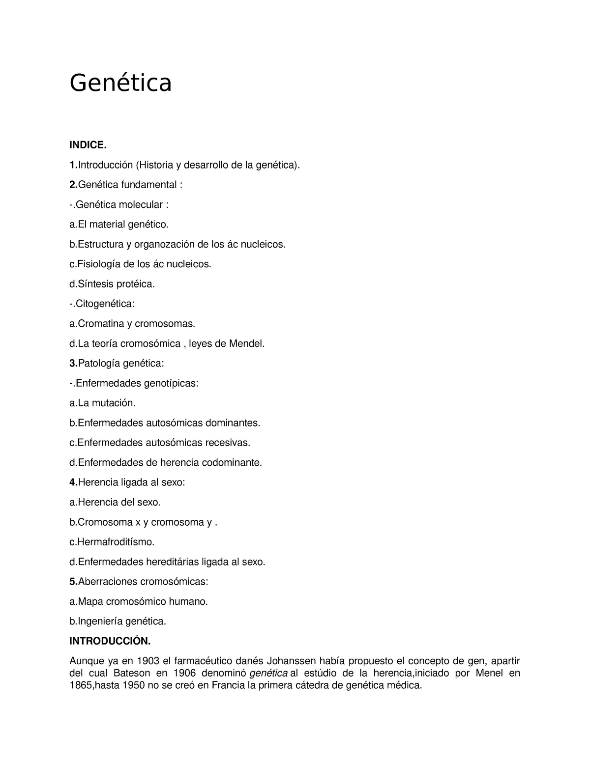 Genetica Ensayo Nota 9 Genética Uanl Studocu
