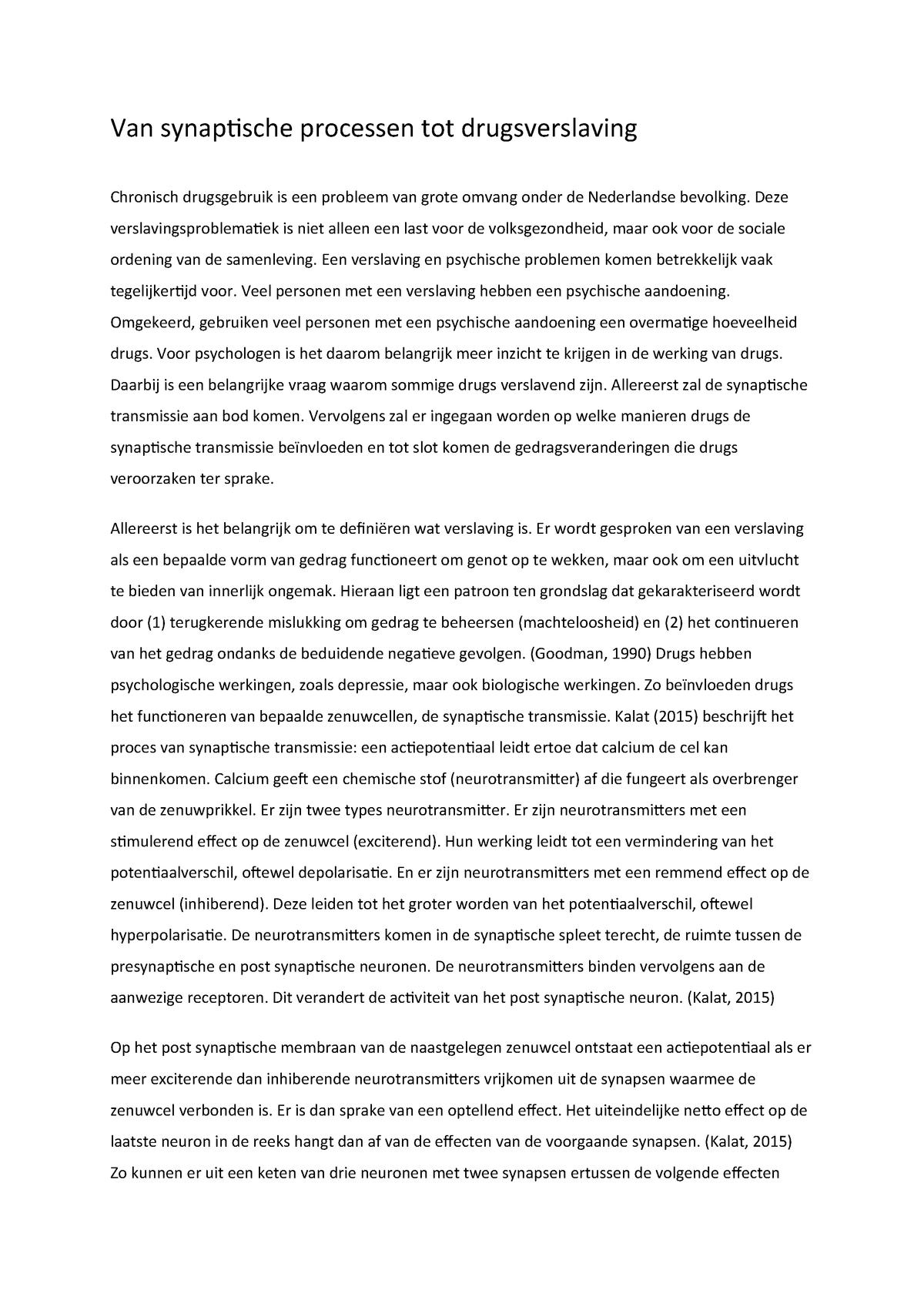 laatste alinea essay