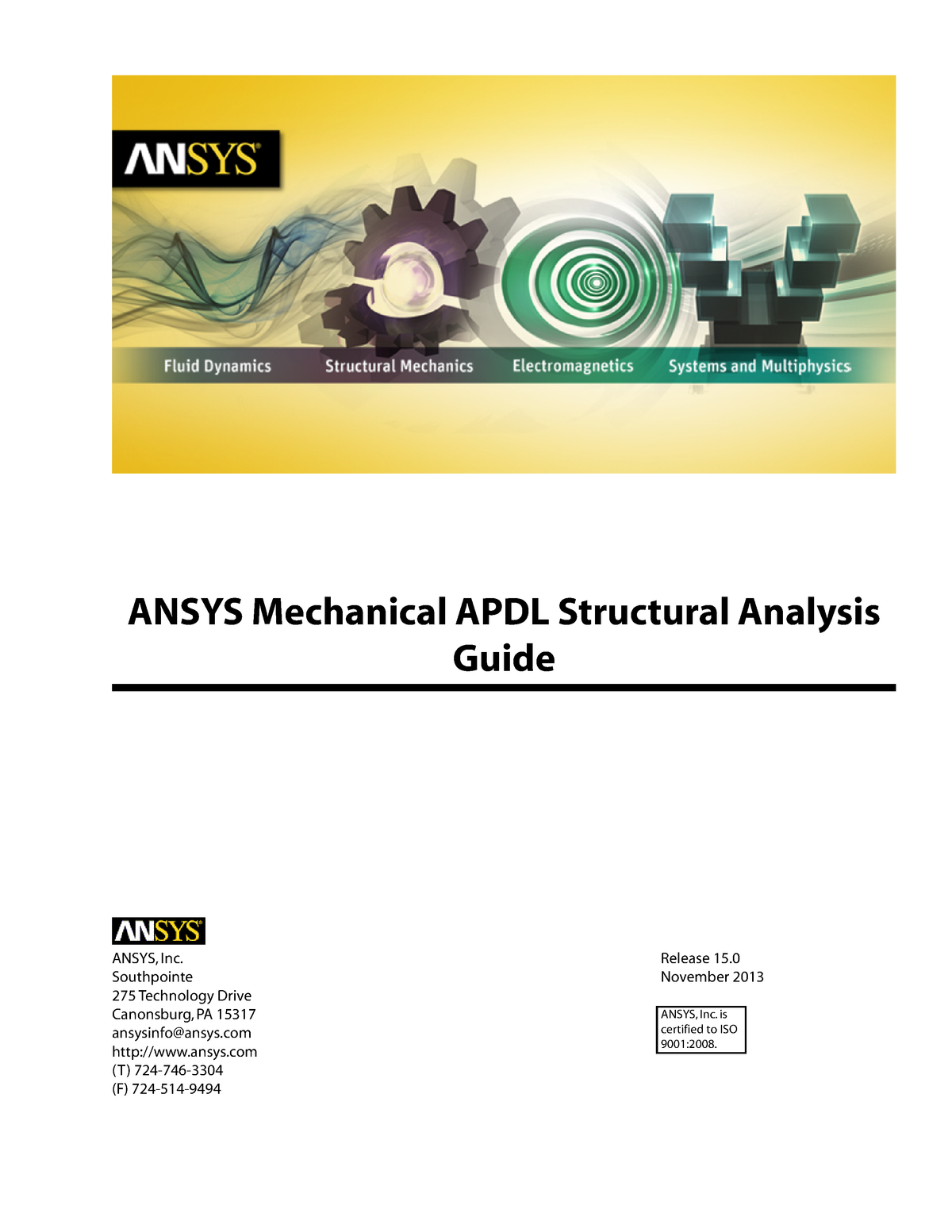 2- Ansys Mechanical APDL Structural Analysis Guide - MECH 918