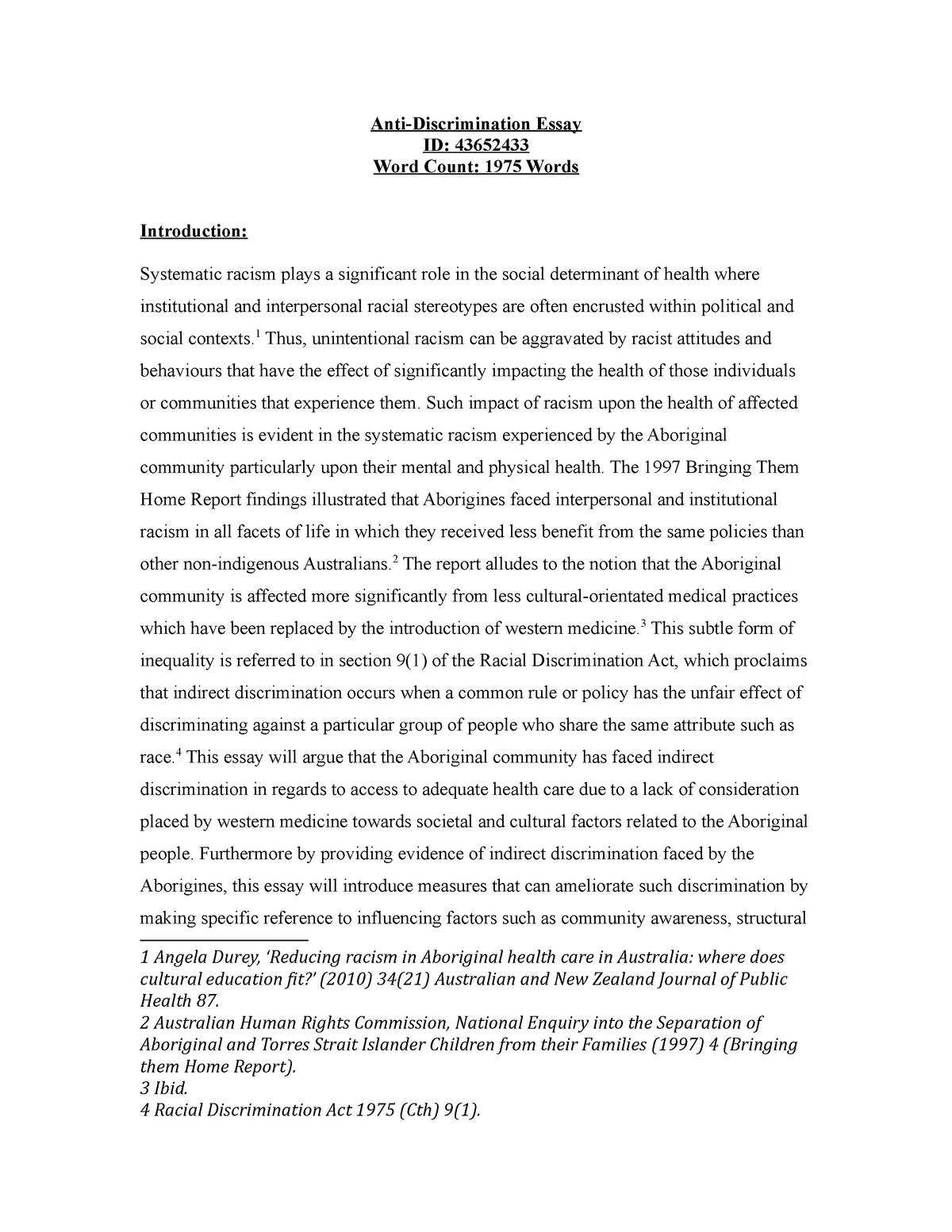 Inequalities detrimental health essay