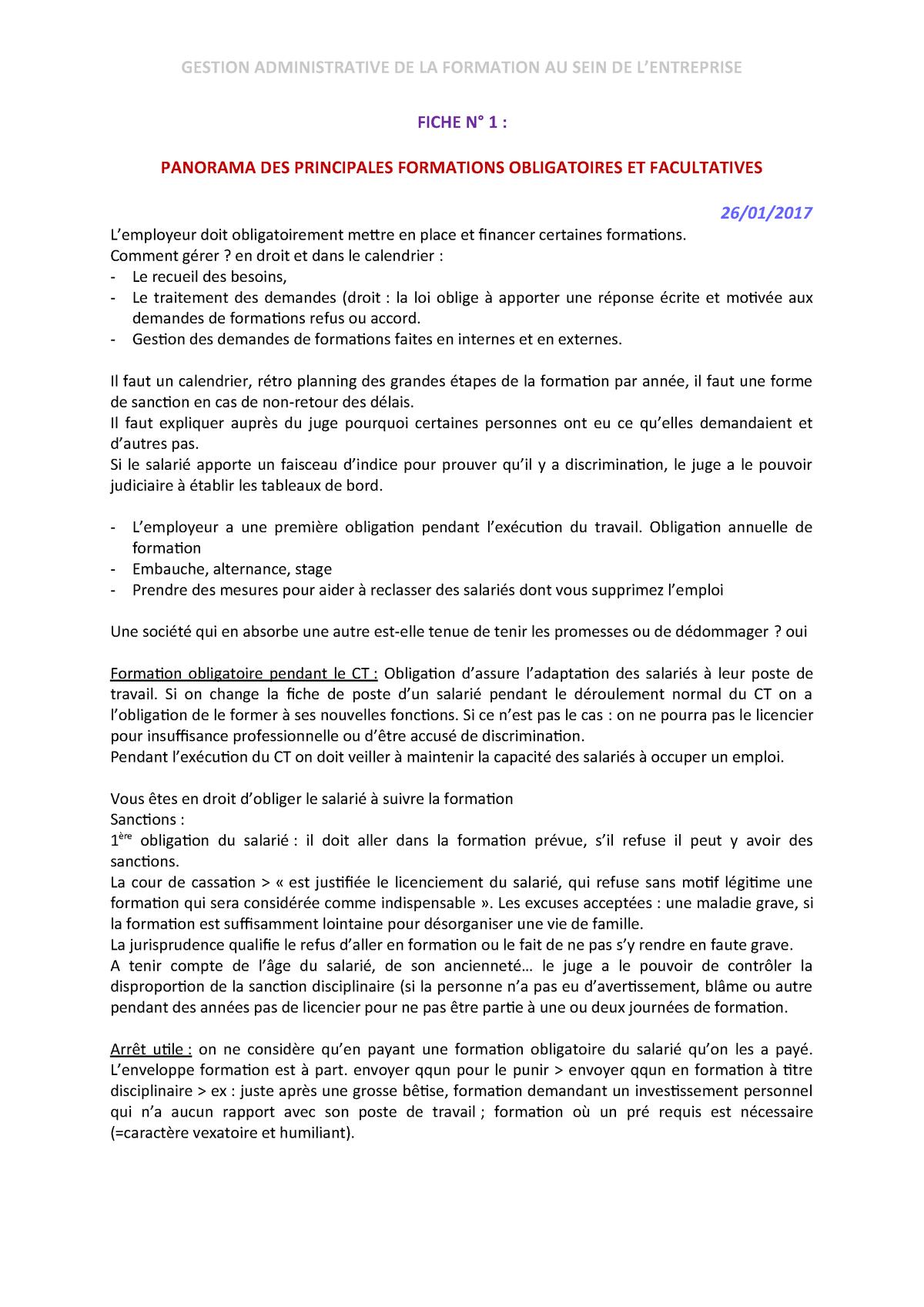Fiche 1 Gestion Administrative Universite Paris 8 Studocu