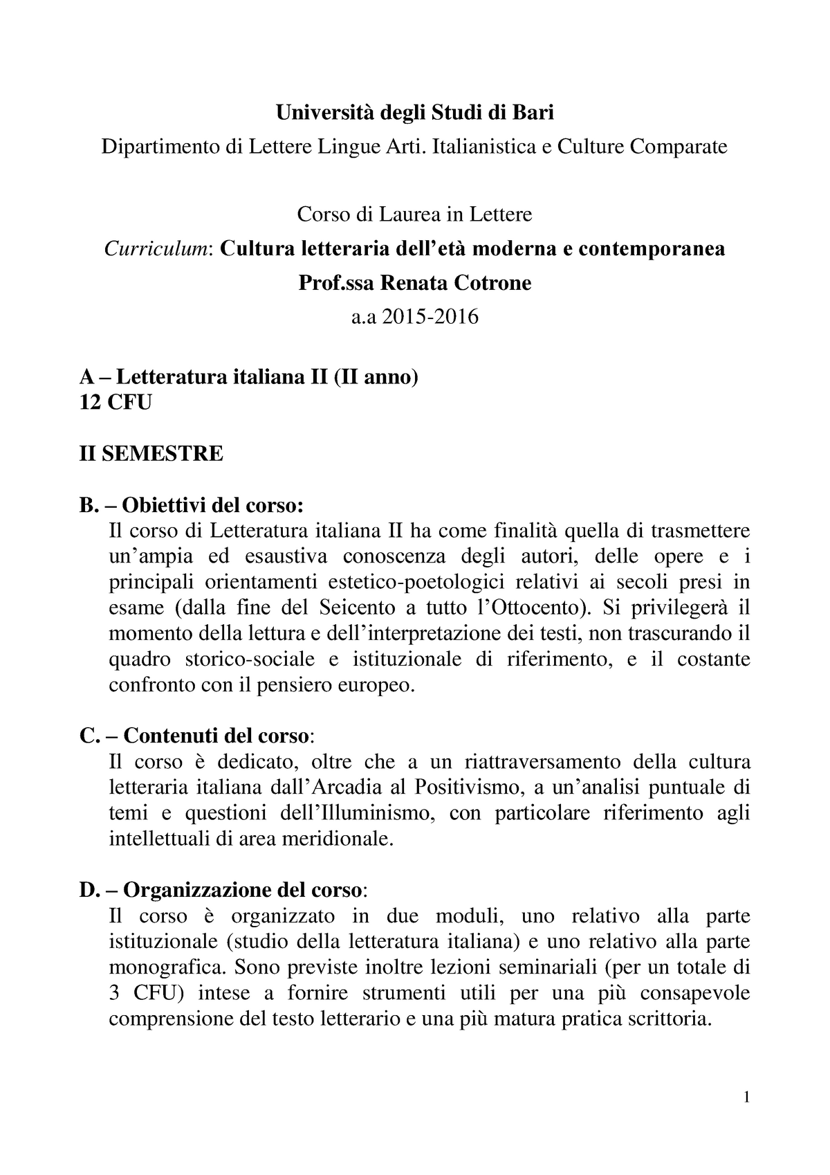 Calendario Lezioni Uniba.Esame 2019 003957 Grammatica Italiana Studocu