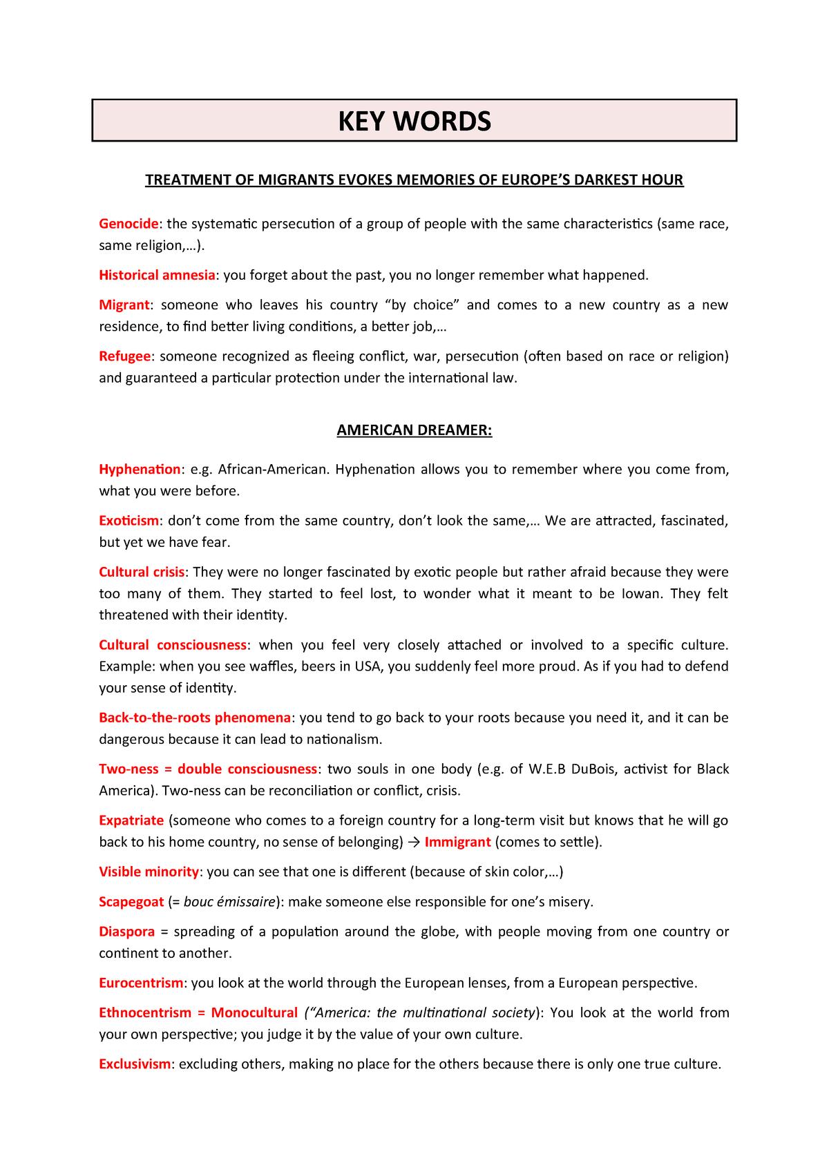 Key Words - Concepts - TRAD0126-1: Pratique de la langue