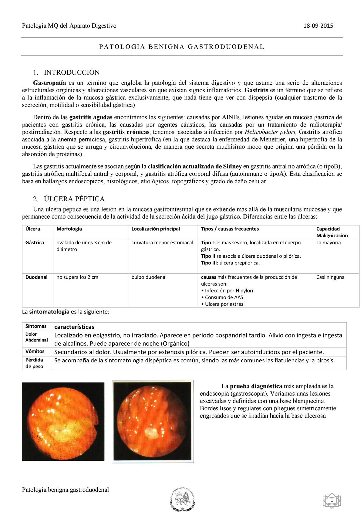 gastritis cronica activa corporal