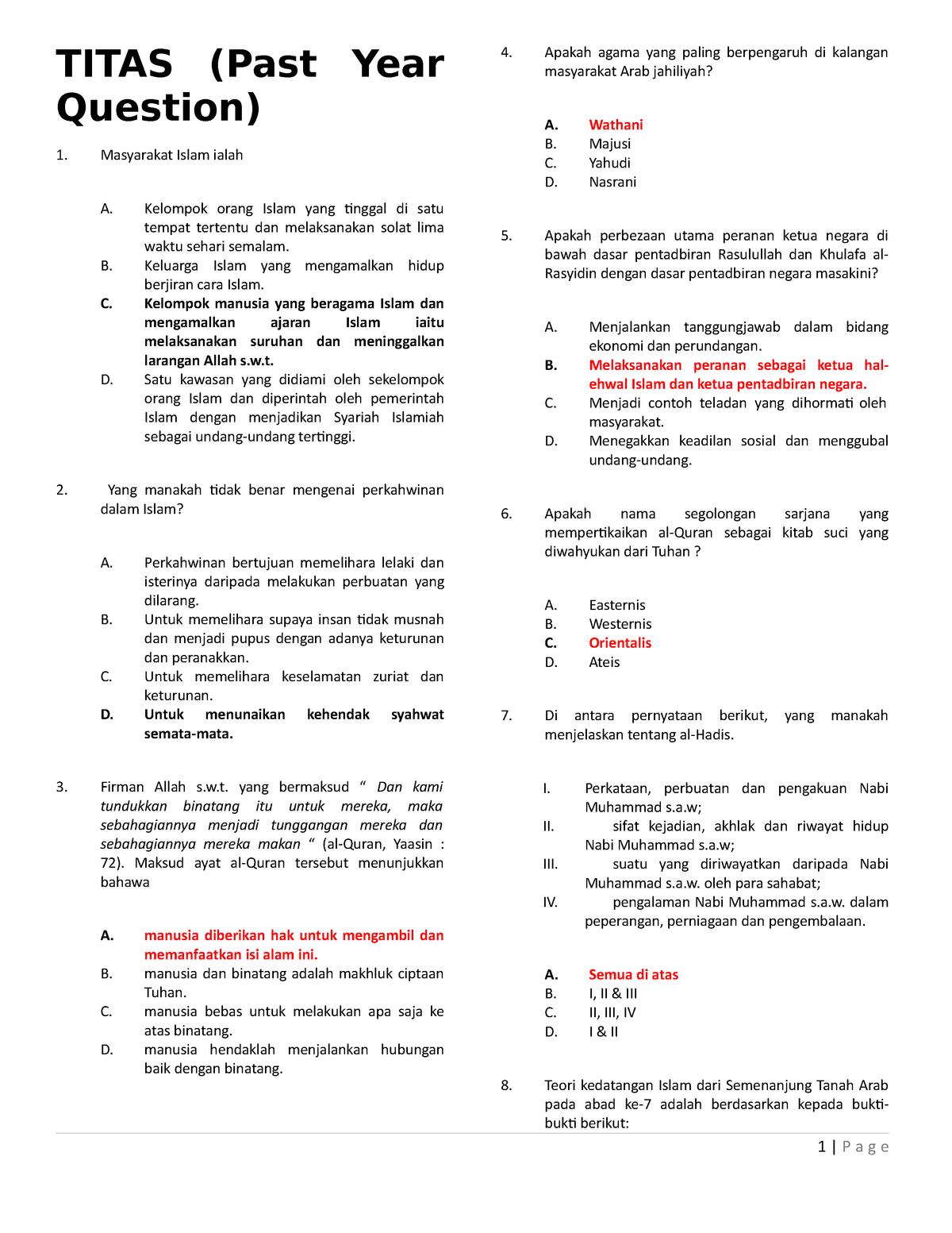 Exam 10 January 2011 Questions Titas Mpu 3213 Ou Studocu