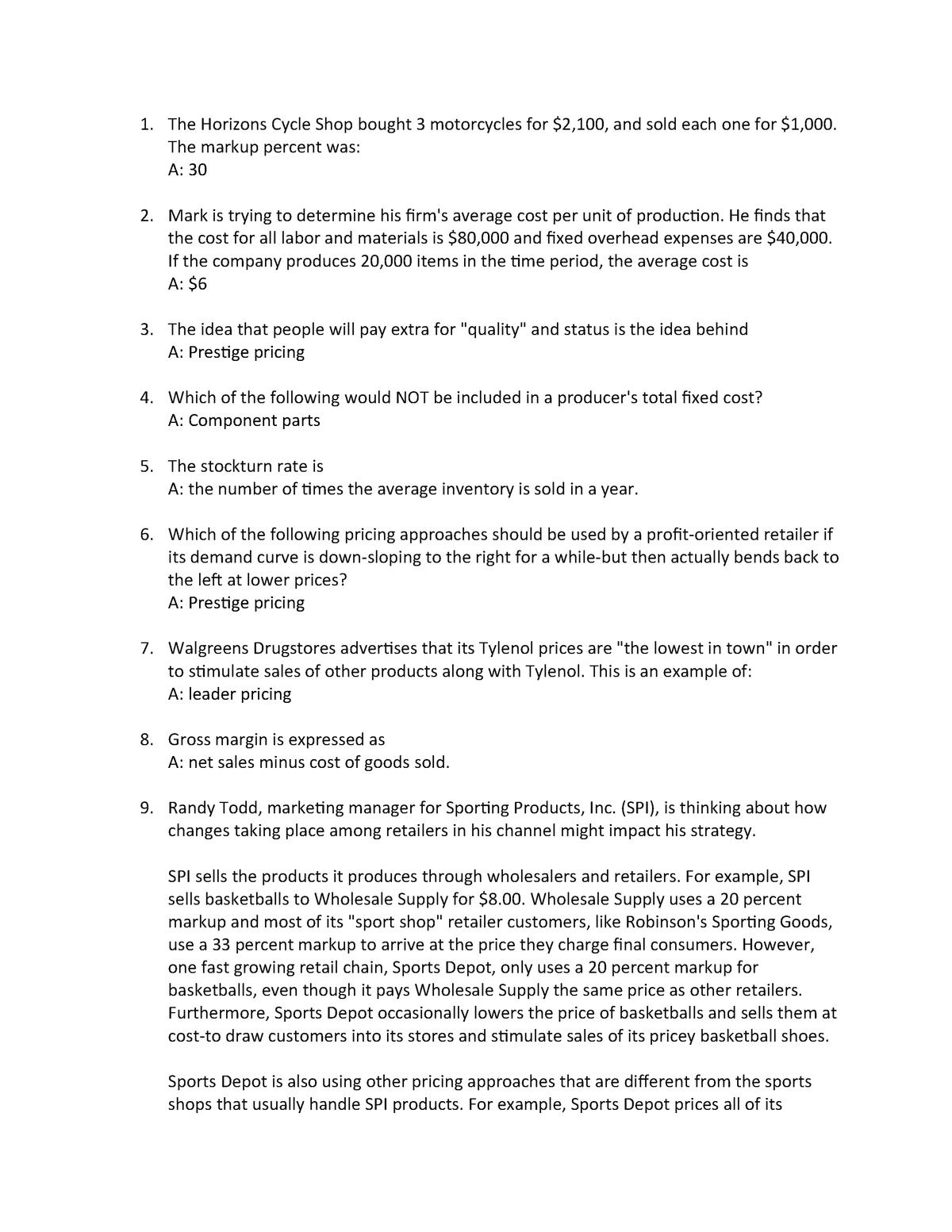 Exam 2018 - MKT 350: Principles Of Marketing - StuDocu