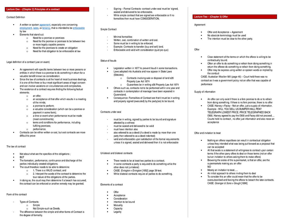 Contracts template - LAWS11-212 - Bond - StuDocu