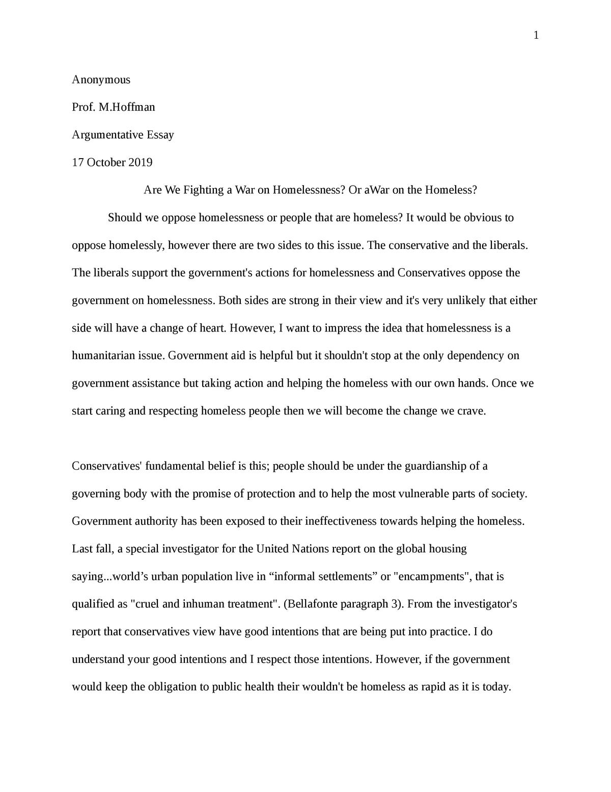 Persuasive essay on the homeless gcse poetry essay