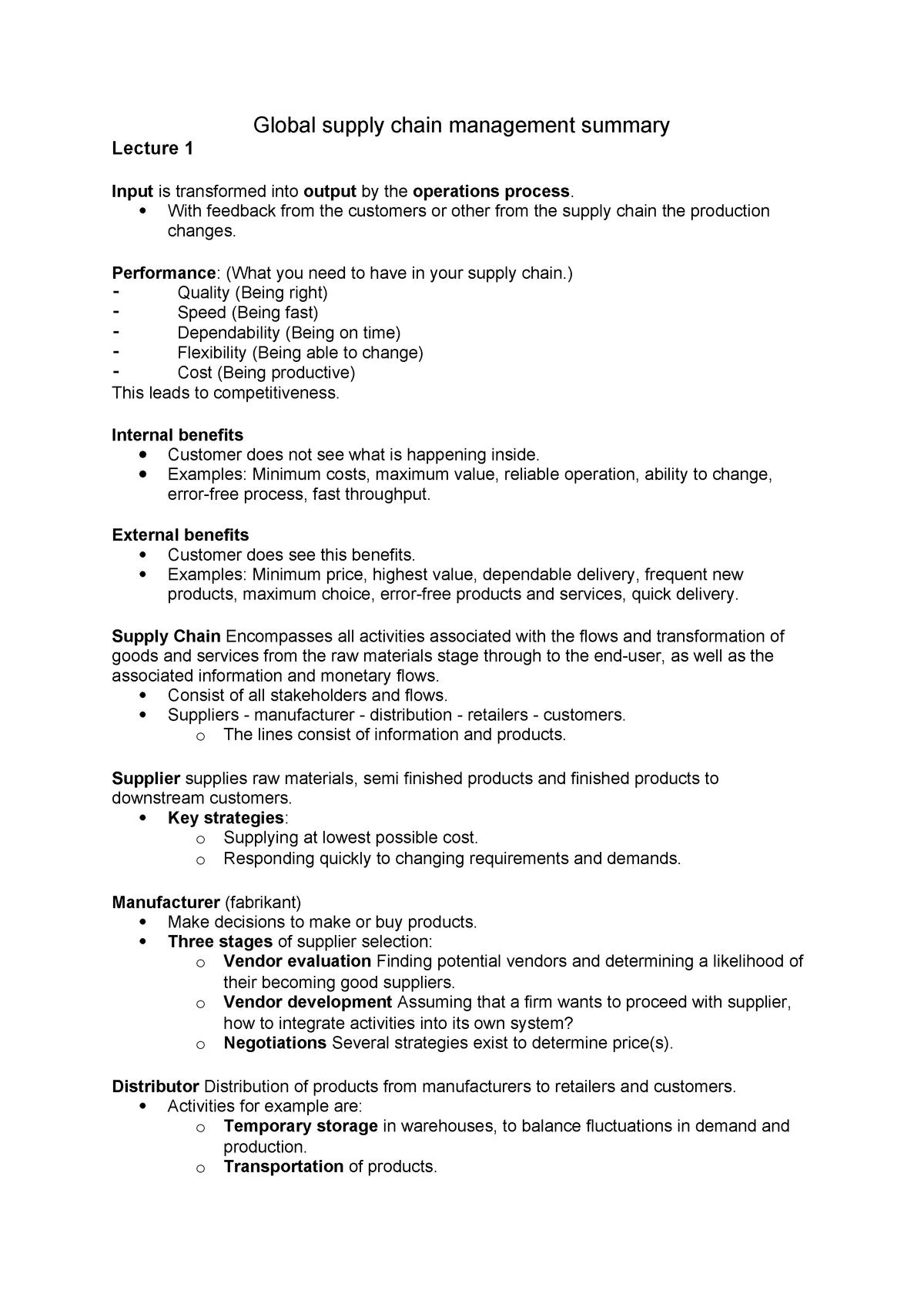 Summary EBP018A05 EBP018A05 09 Feb 2019 - StuDocu