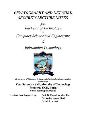 Cryptography and security - LCOM2007: Visual Communication