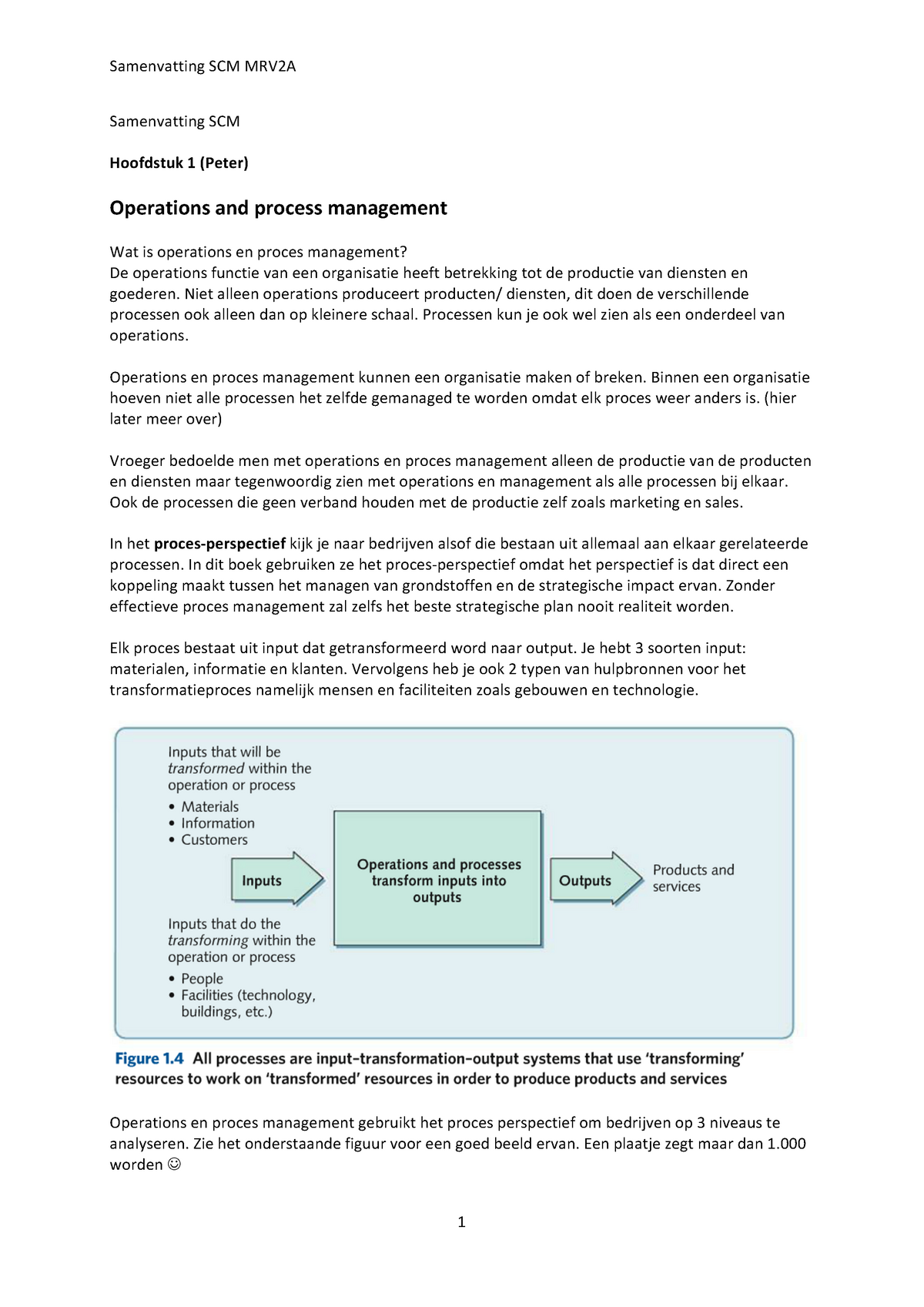 summary operations and process management principles and practicesummary operations and process management principles and practice for strategic impact 23 jul 2015 studocu
