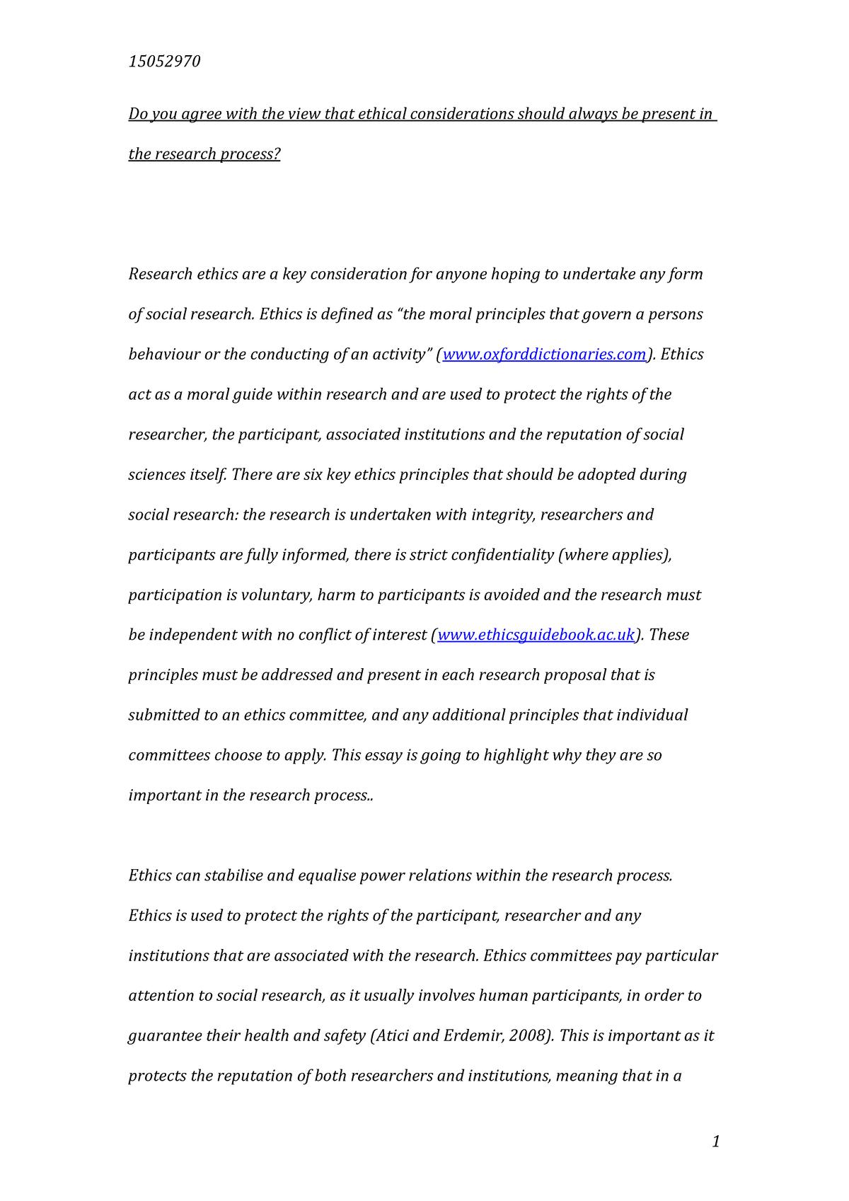 researching politics ethics essay   u researching politics  researching politics ethics essay   u researching politics and  international relations  methods   studocu