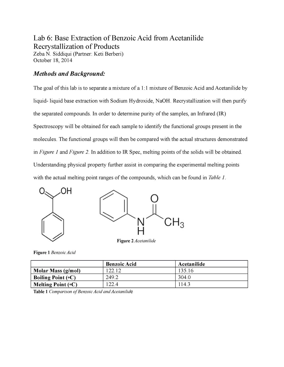 Lab Report 6 - Lecture notes 6 4 - CHEM 233 - UIC - StuDocu