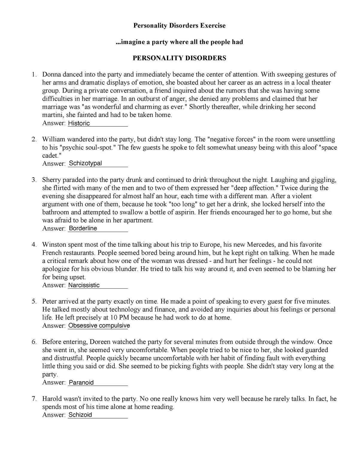 Learning activity 13 - PSYC 405 Abnormal Psychology - ODU