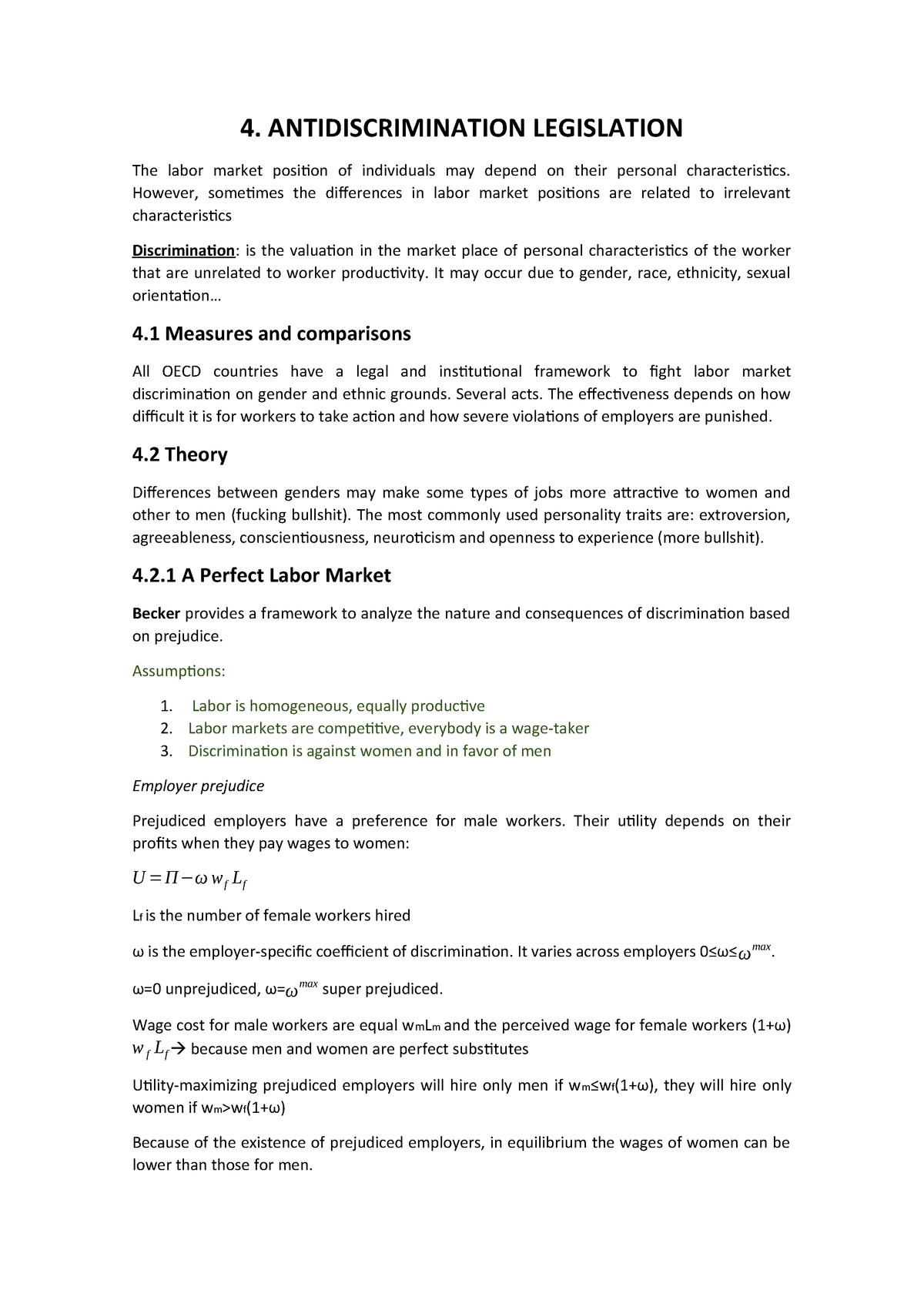 4. Antidiscrimination Legislation - EBC2096 - StuDocu