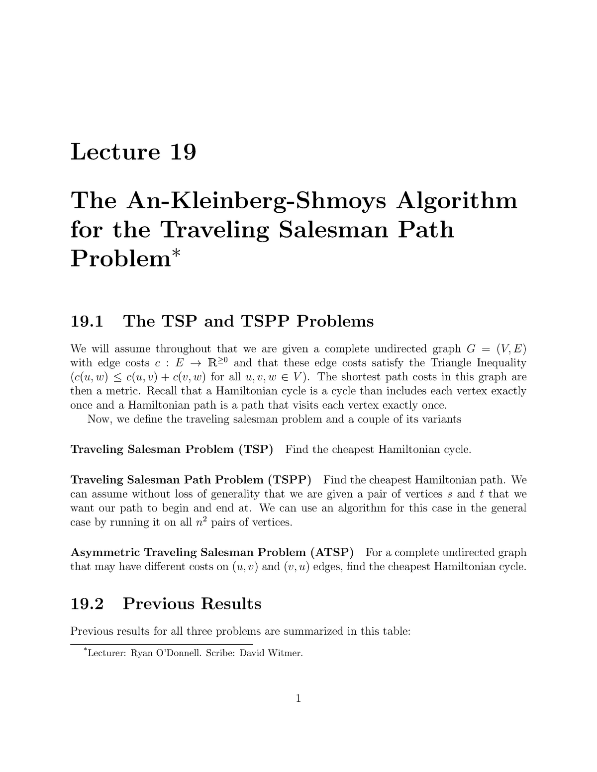 Lecture 19 - Linear and Semidefinite Programming by Anupam