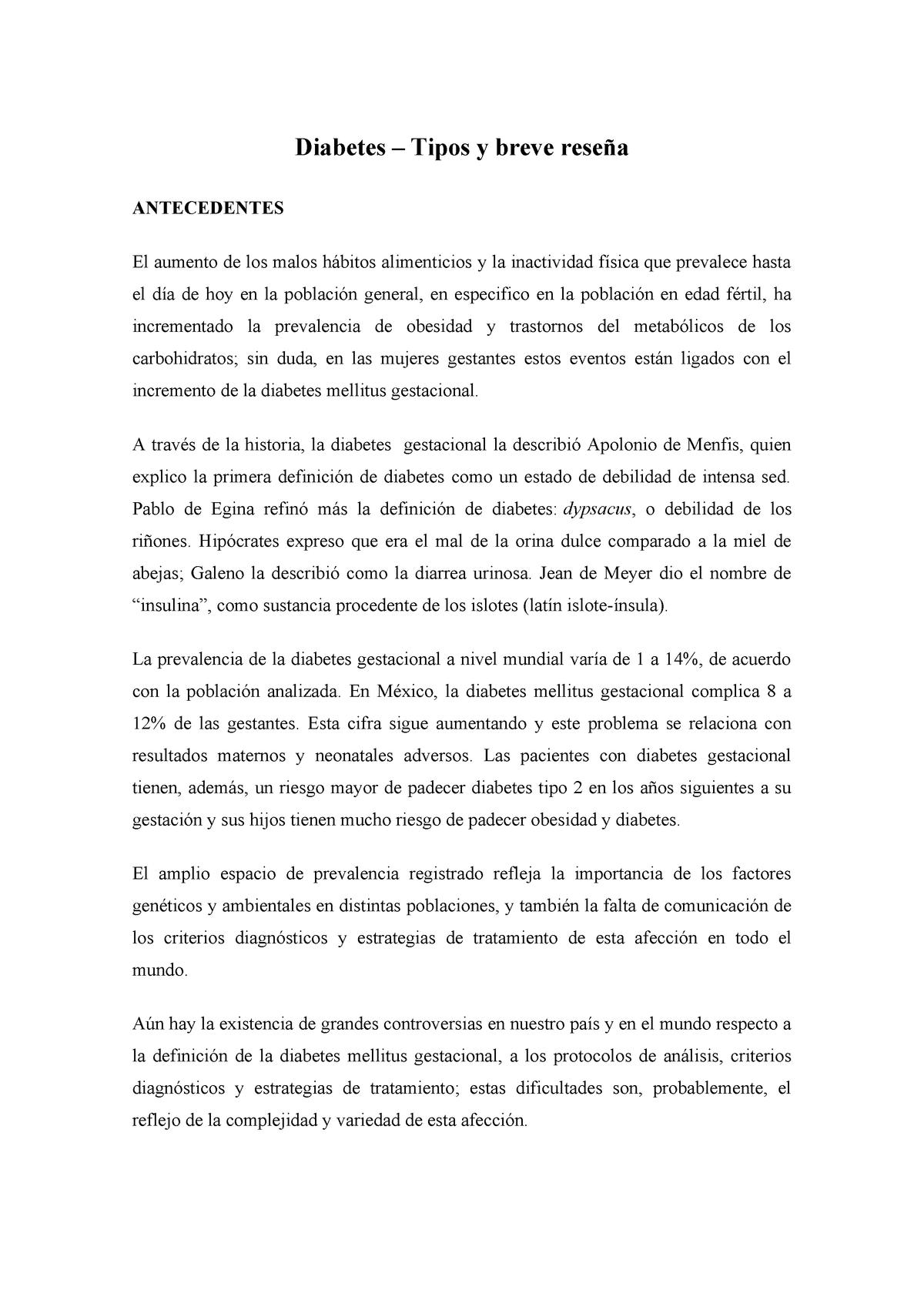 protocolo de investigación de diabetes gestacional