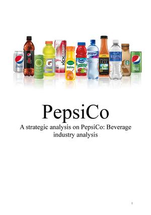 pepsico industry analysis