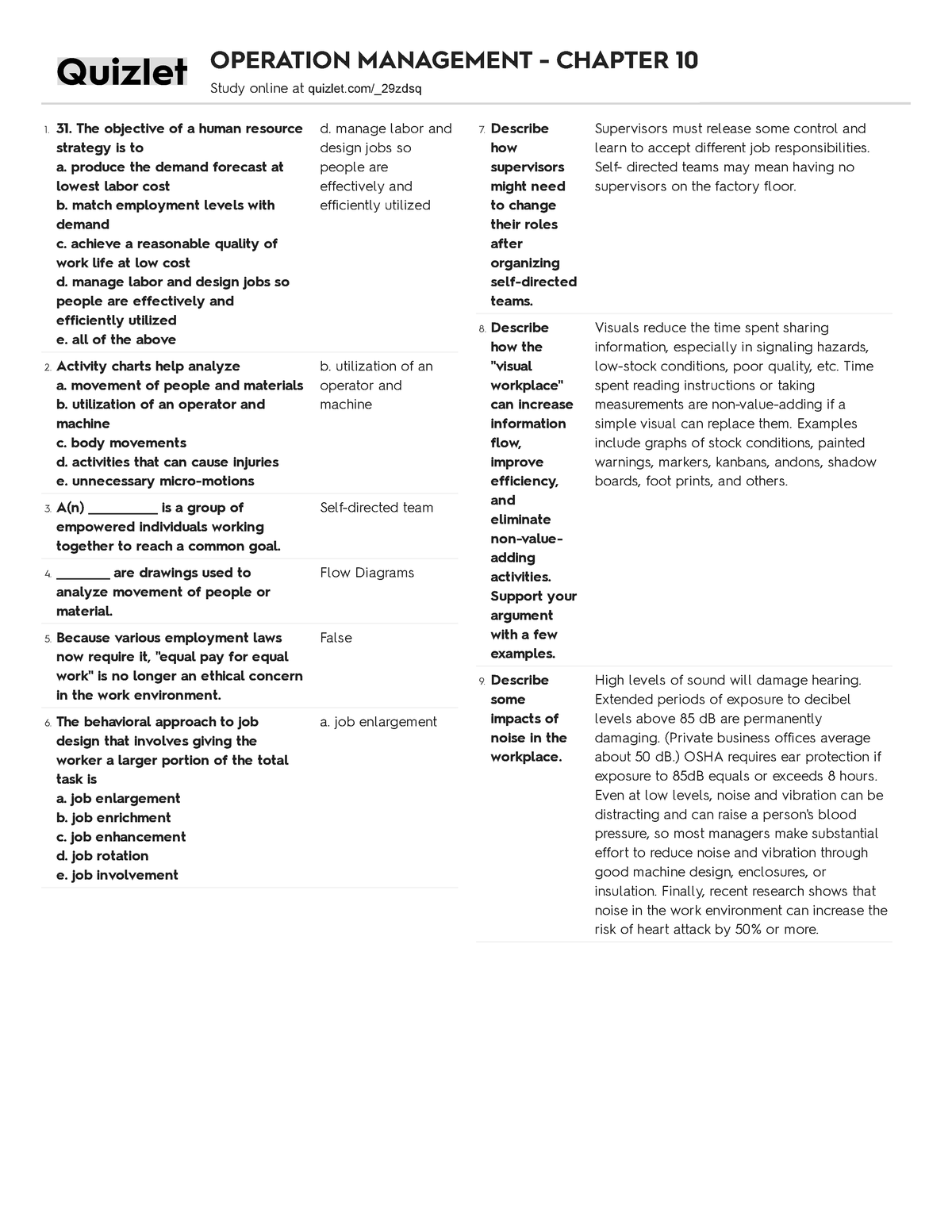 Exam 2018 - MSCI30000001: Operations Management - StuDocu
