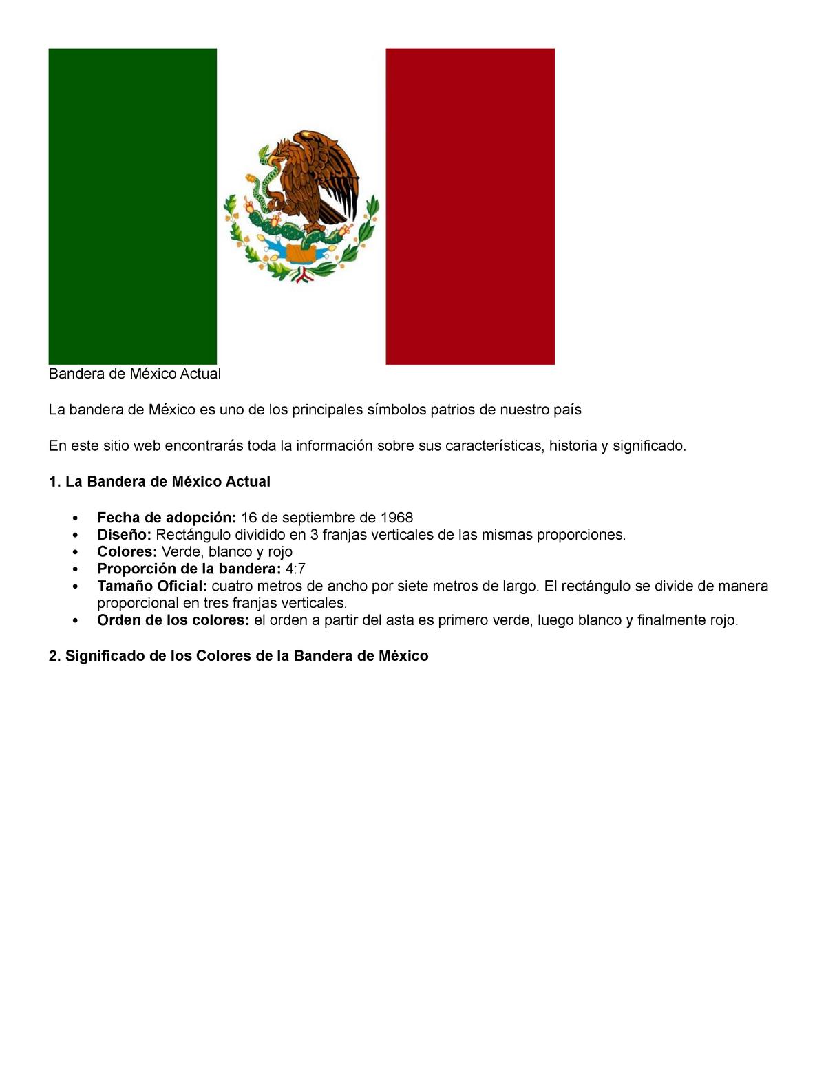 bandera actual de mexico significado