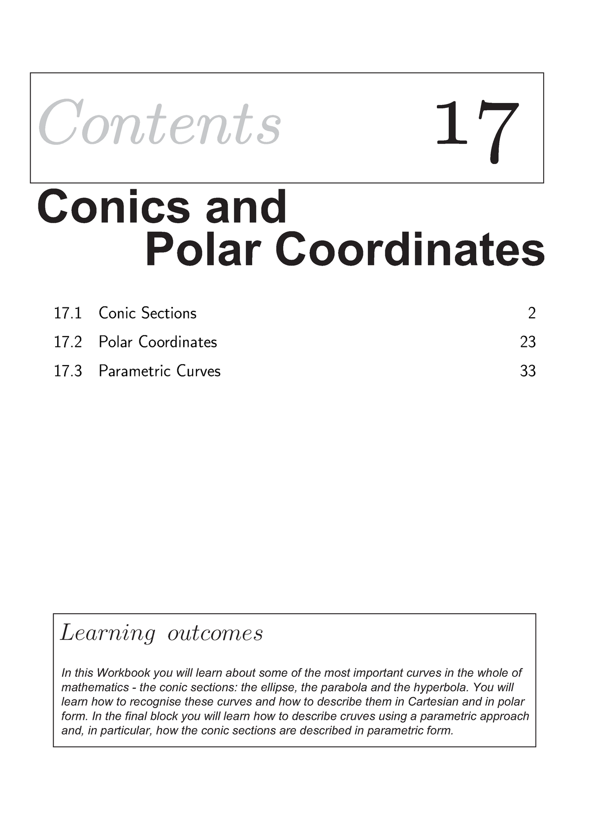 Conic Sections Worksheet - - Port - StuDocu