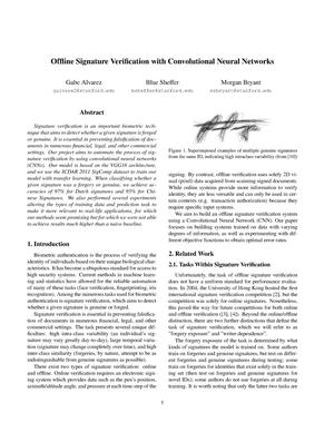 Offline signature verification with convolutional neural networks