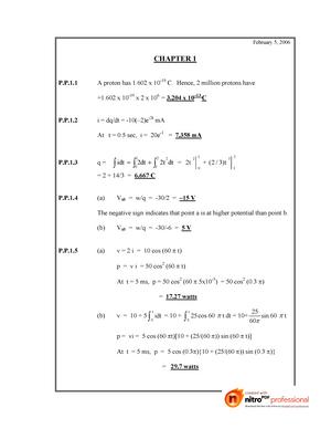 Sadiku Practice Problem Solution Pdf Basic Electrical Studocu