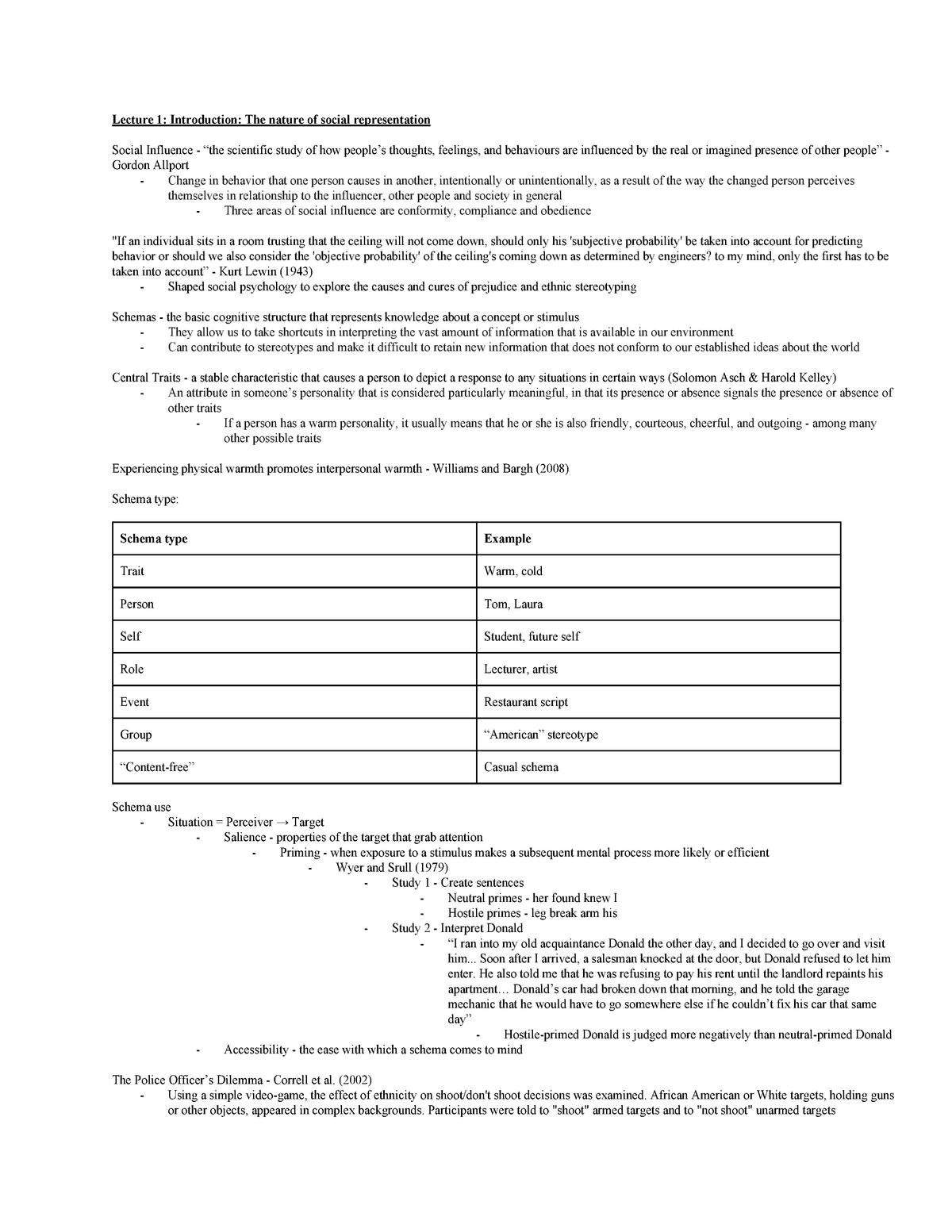 Notes - Social and Applied Psychology PSYC212 - StuDocu